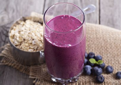 Blueberry & Oatmeal Smoothie