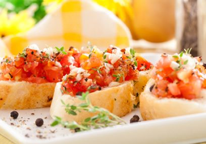 Bruschetta with Fresh Sprouts