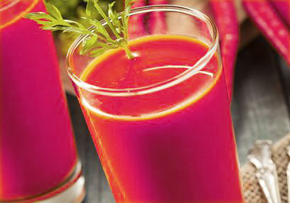 Purple Carrot & Mango Smoothie