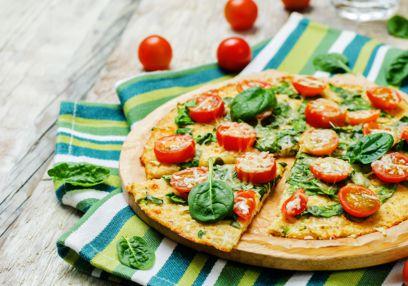 Croûte à pizza au chou-fleur