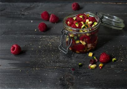 Fruity and spicy raspberry chutney