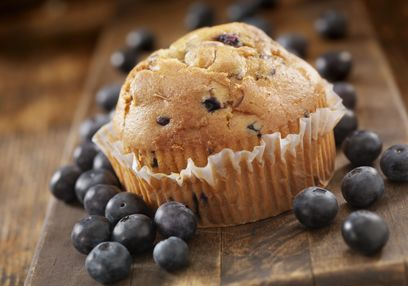 Gluten & Lactose Free Blueberry Muffins