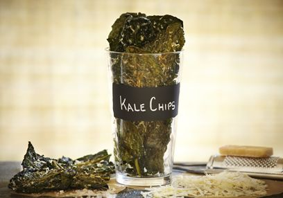 Kale Chips with Parmesan Cheese