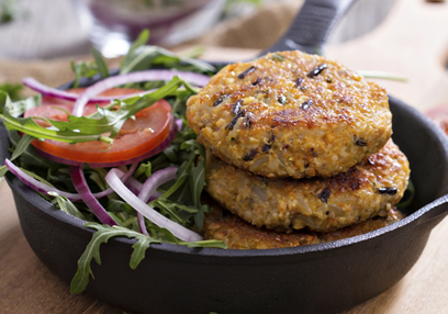 Vegan Burgers with Quinoa & Vegetables
