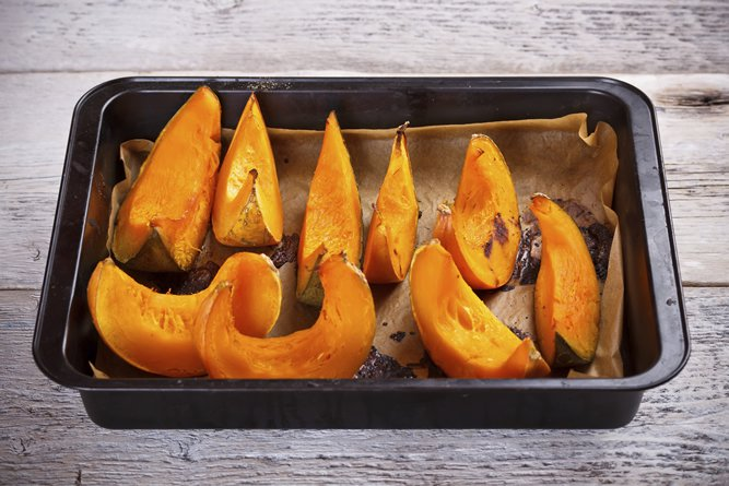 Roasting is the ideal way to cook pumpkin