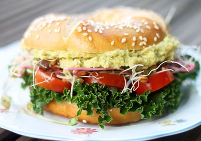 Vegan 'Eggless' Egg Salad Bagel