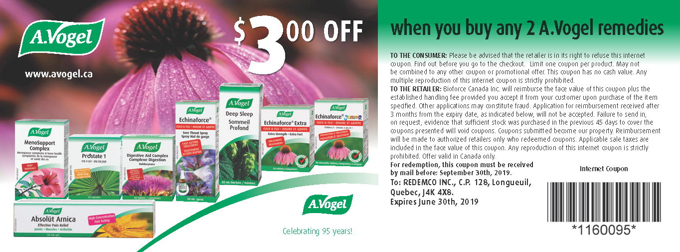 Get $3.00 Off when you buy any 2 A.Vogel remedies