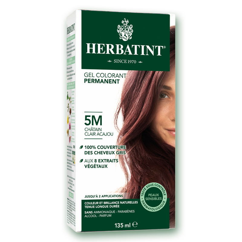 herbatint 5m chtain acajou clair - Coloration Permanente Sans Ammoniaque