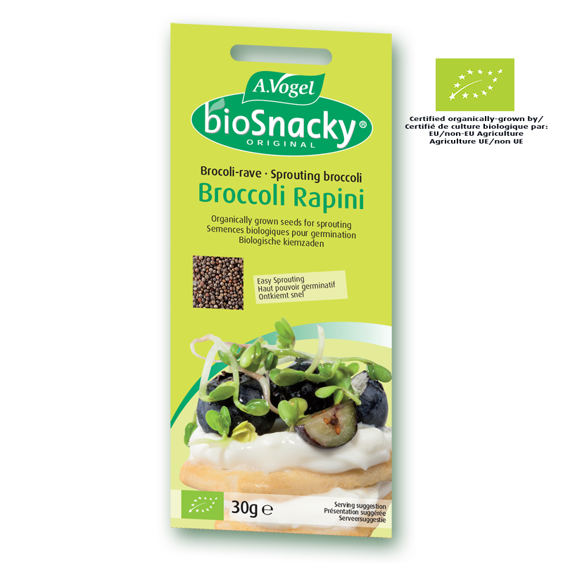bioSnacky® Broccoli Rapini Sprouting Seeds