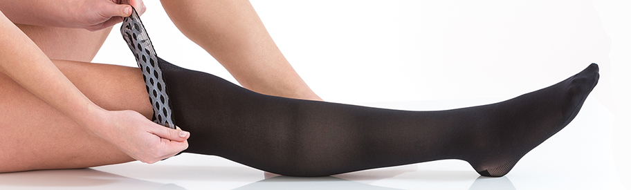Support stockings for varicose veins