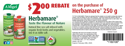 Herbamare rebate coupon